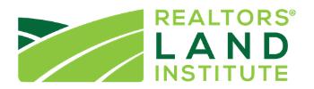REALTORS® Land Institute 2021 Exhibitor Logo